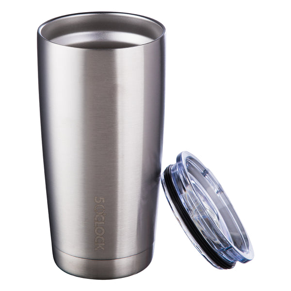 5 O'Clock Stainless Vacuum Insulated Tumbler - 590 mL - Stainless Steel