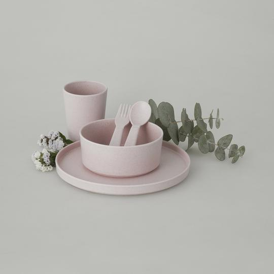 Amelia Frank - Children's Bamboo Dinnerware - Sunset Rose