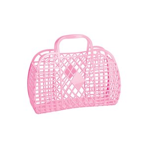 Sun Jellies Retro Basket - Bubblegum Pink (Small)