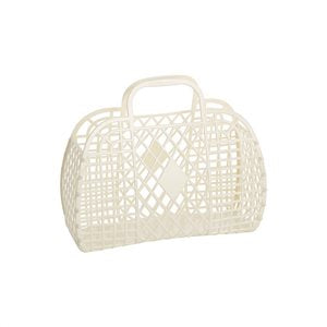 Sun Jellies Retro Basket - Cream (Small)