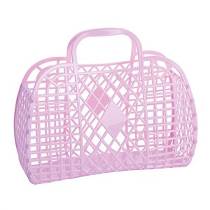 Sun Jellies Retro Basket - Lilac (Large)