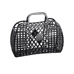 Sun Jellies Retro Basket - Black (Small)