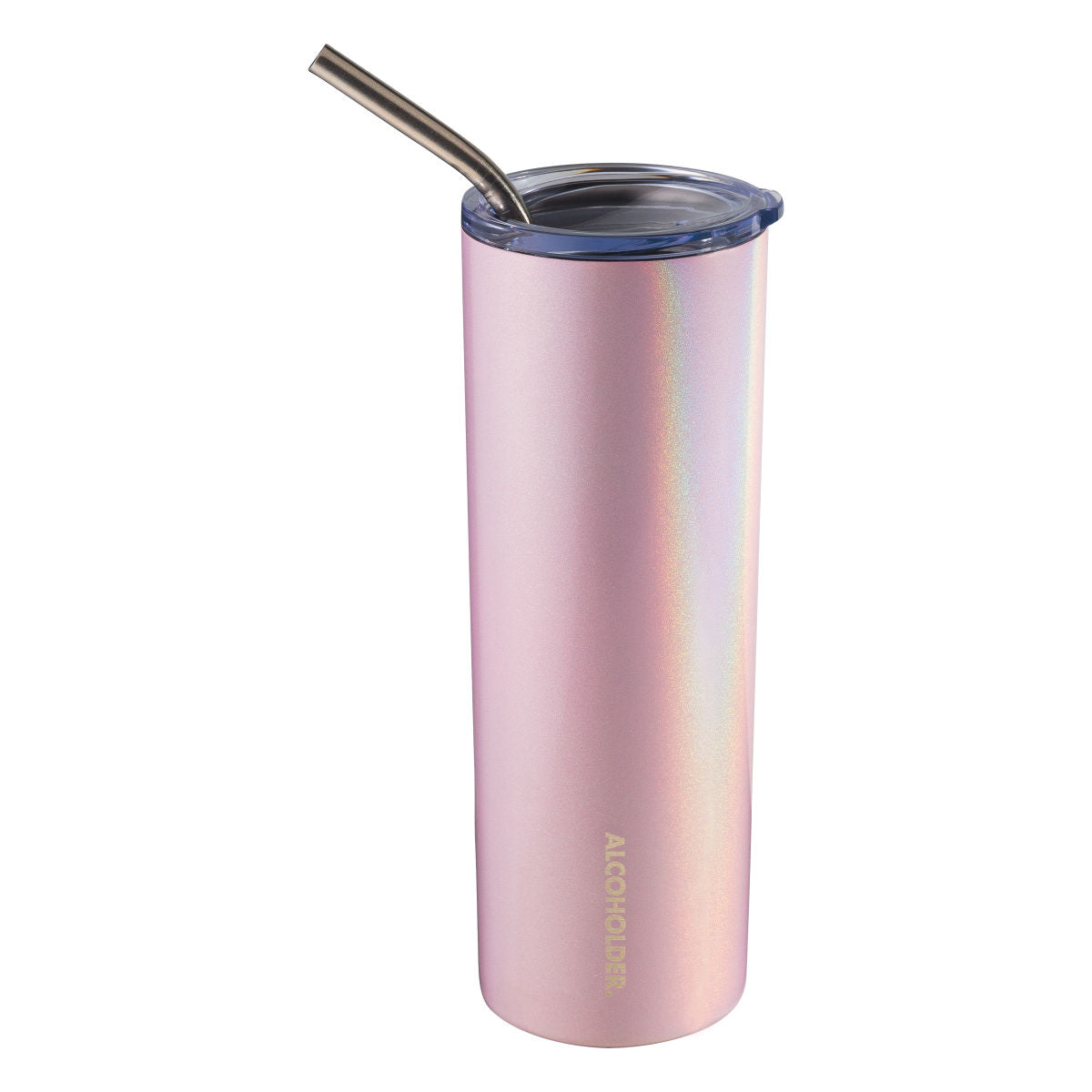 SKNY Slim Vacuum Insulated Tumbler - 590mL -Blush Pink (Glitter)