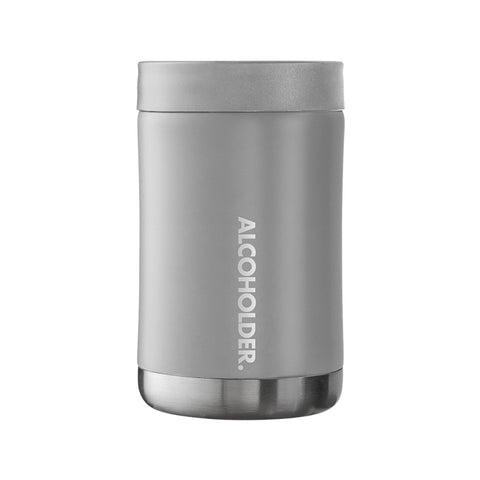 Stubzero Can & Bottle Stubby Cooler - Matte Cement Grey