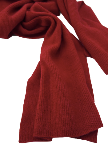 The Cashmere Shop Red Cashmere Scarf