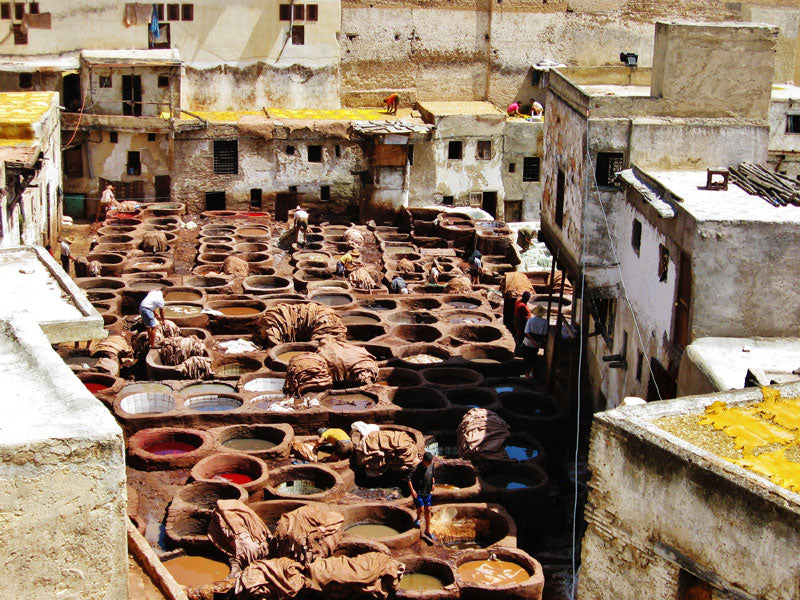 Leather Tannery in Morroco