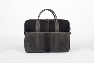 Leather Parliament Briefcase in Black