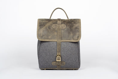 The Camden Backpack in Olive Green