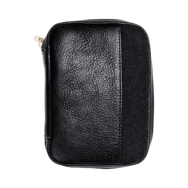 Leather Passport Holder in Black