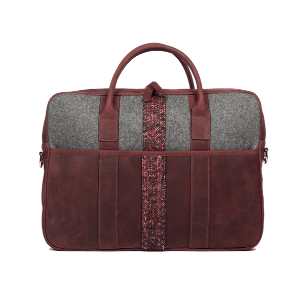 Leather Parliament Briefcase in Ox Blood