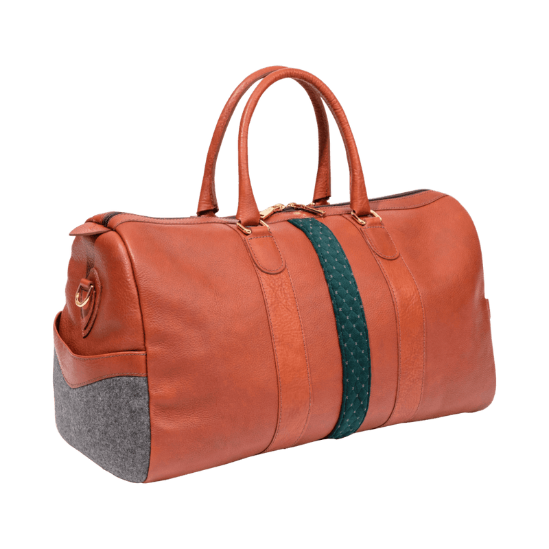 monte-and-coe-cognac-leather-weekender-bag-side-angle