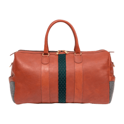 Leather Weekender Bag in Cognac