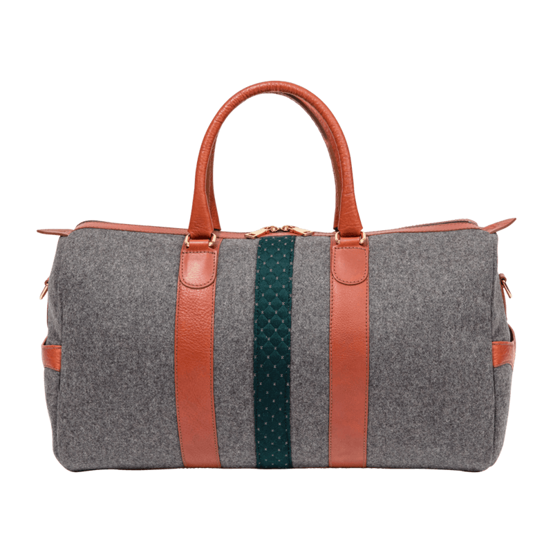 monte-and-coe-grey-and-cognac-wool-weekender-bag