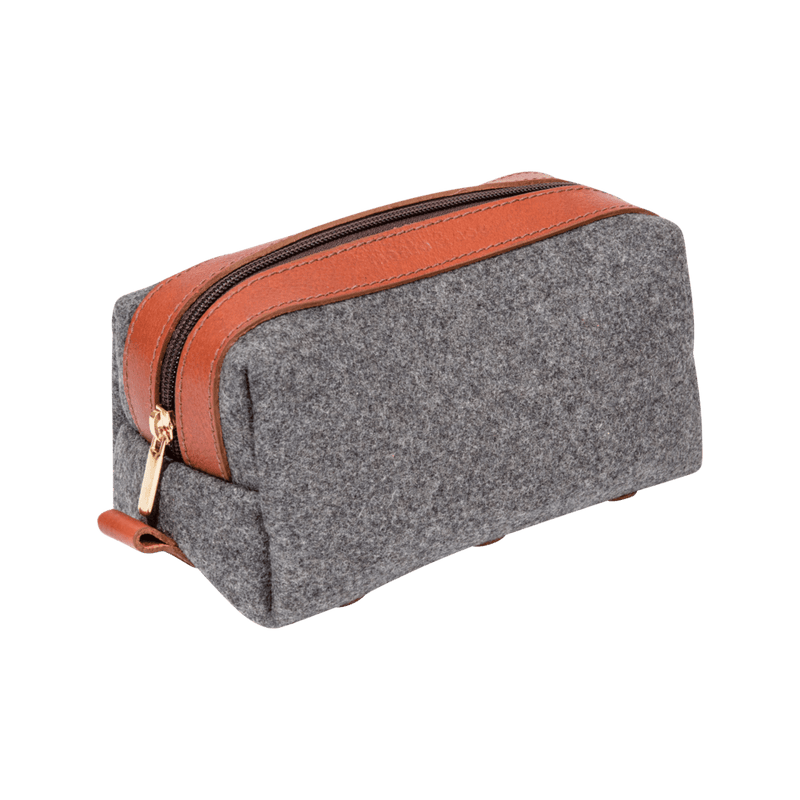 monte-and-coe-grey-and-cognac-wool-dopp-kit-angle