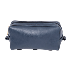Leather Dopp Kit in Navy