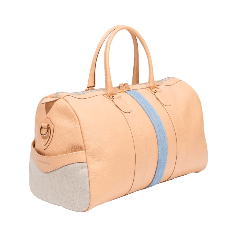 monte-and-coe-nude-leather-weekender-bag-side-angle