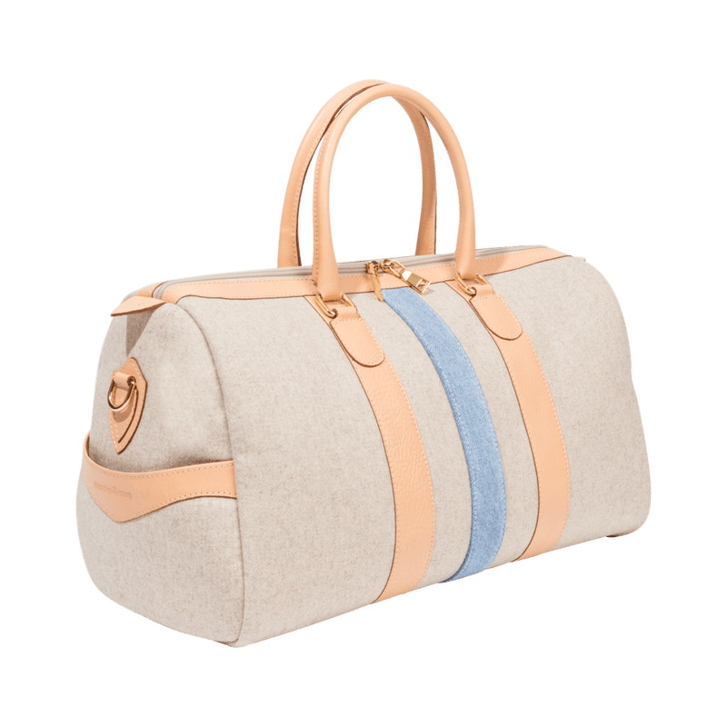 monte-and-coe-nude-wool-weekender-bag-side-angle
