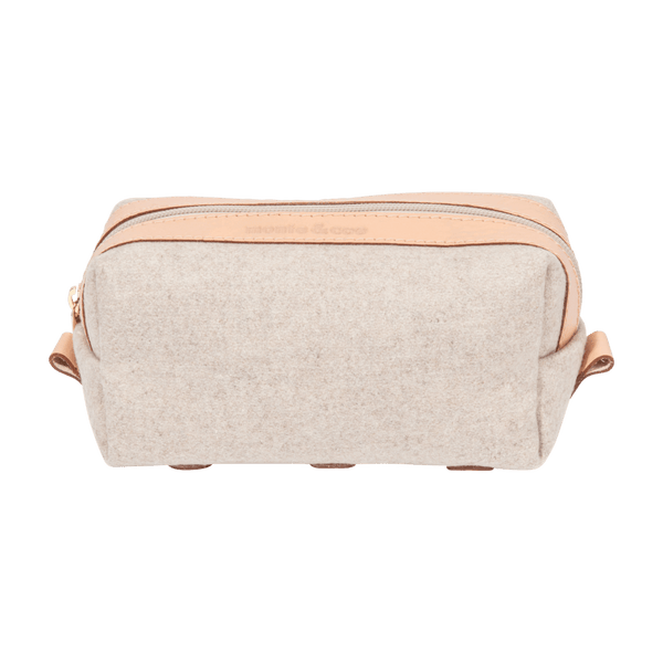 Wool Dopp Kit in Nude