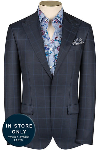 Navy and Mariner Windowpane Suit