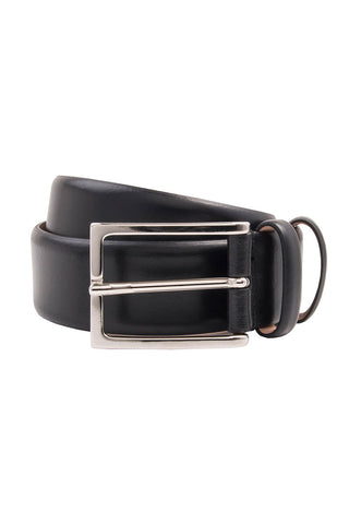 Gallo Matte Black Leather Belt