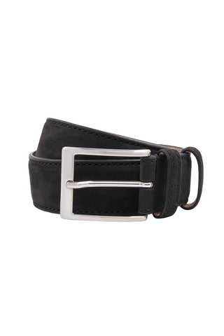 Gallo Black Suede Leather Belt