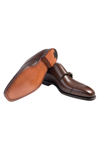 Dark Brown Lowndes Double Monk Shoe