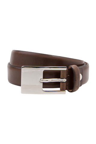 Classic 25mm Brown Leather Belt