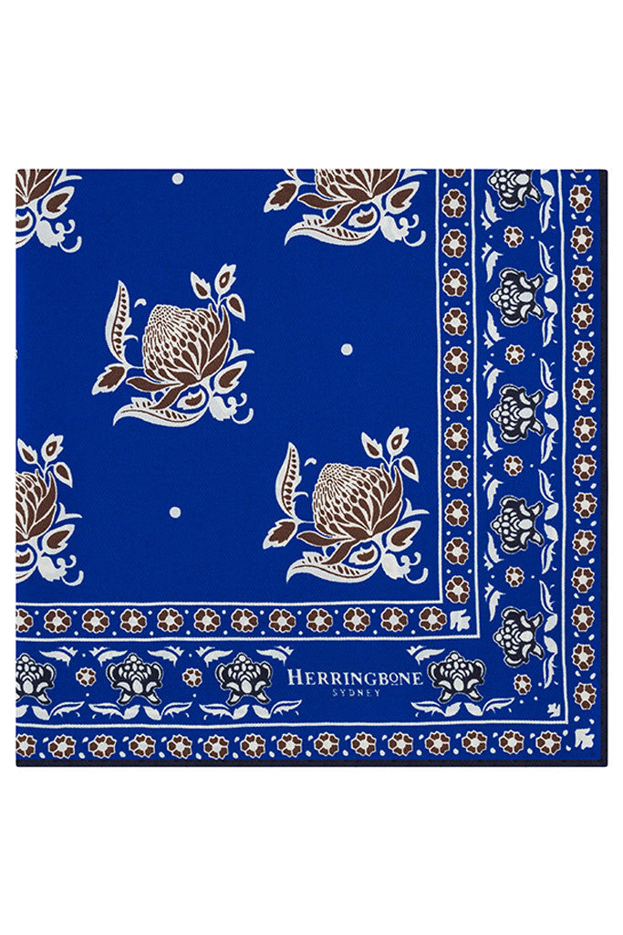 Blue Note Waratah Paisley Pocket Square