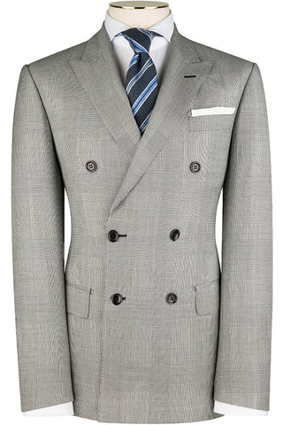 Black and White Prince of Wales Check Suit