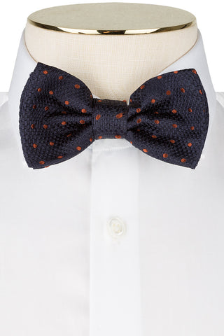 Ink and Cognac Dot Bow Tie