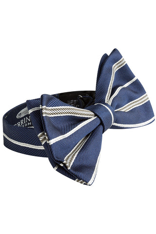Caspian and Shore Stripe Bow Tie