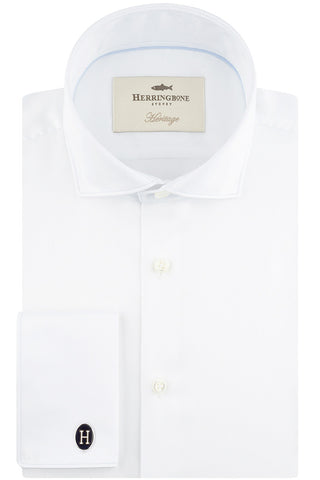 White Sateen with Semi-Cut Away Collar
