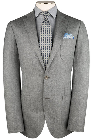 Salt and Pepper Flannel Suit