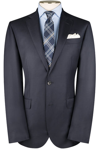 Navy Wool Twill Jacket