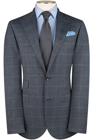 Navy Salt and Pepper Overcheck Suit