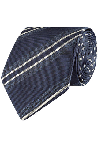 Navy Melange Stripe