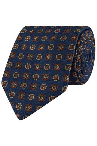 Mariner and Cognac Motif Tie