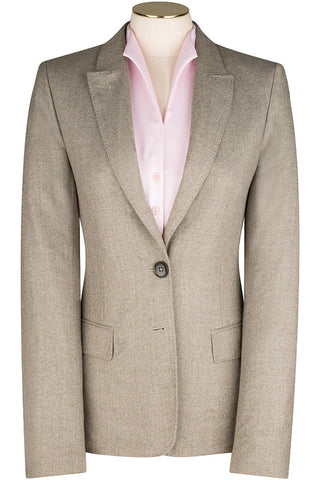 Taupe Wool Flannel Jacket