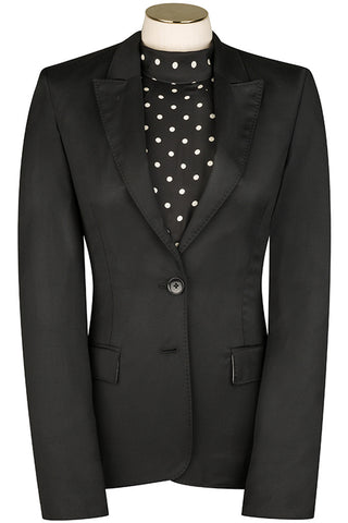 Black Wool Twill Jacket