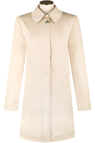 Stone Cotton Twill Coat