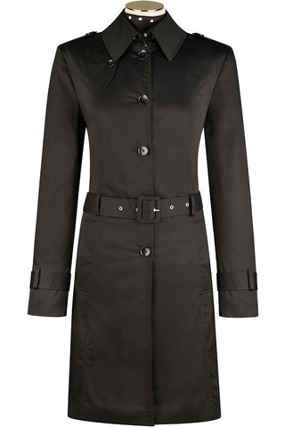 Mortem Cotton Trench Coat