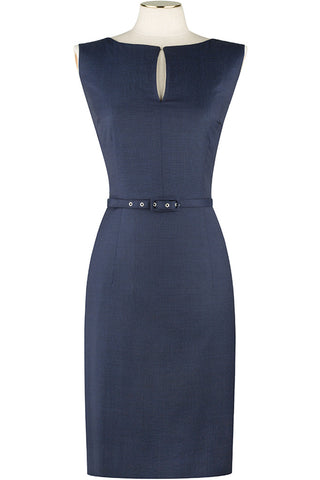 Navy Pindot Dress
