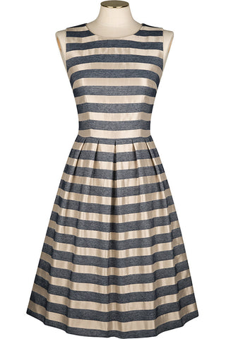 Ink and Cassedria Metallic Stripe Dress