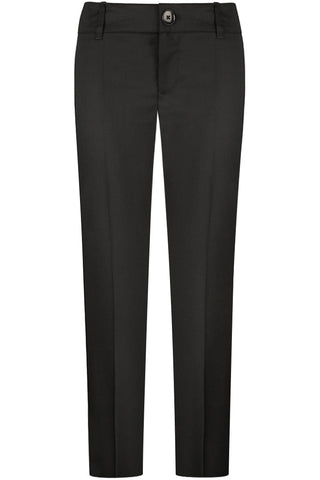 Black Wool Twill Pants