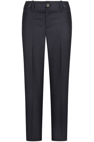 Navy with Wool Dot Pants