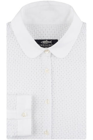 White Textured Cotton Shirt