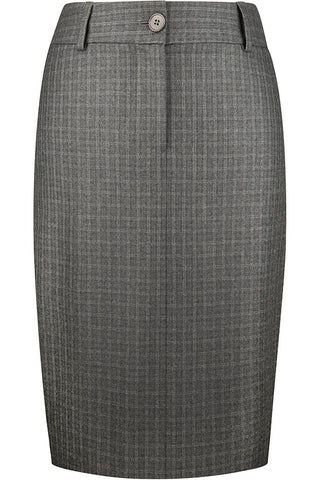 Charcoal and Grey Check Flannel Skirt