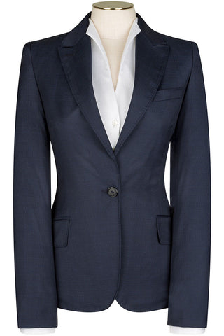 Loro Piana - Navy Wool Pindot Jacket