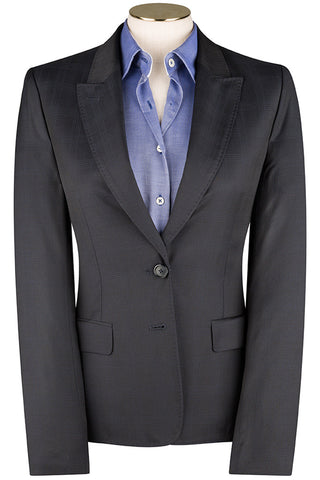 Navy Self Check Jacket
