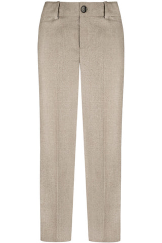 Taupe Wool Flannel Pants